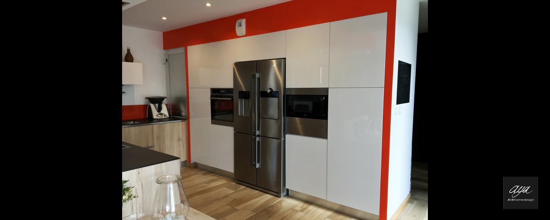 Ilot De Cuisine Avec Colonne cuisine design lyon, architecte d'intérieur aya home design