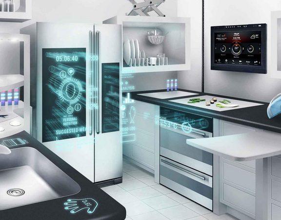 aménagement cuisine connectée